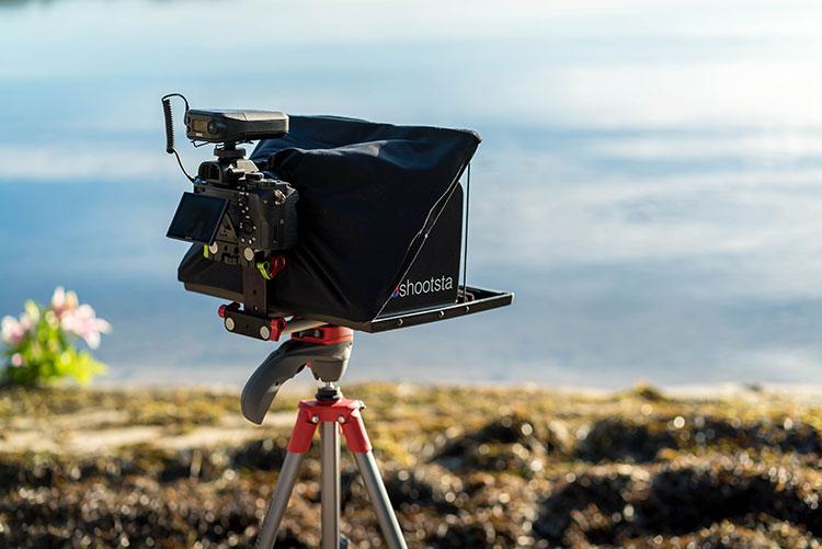 Shootsta Kit set up alongside beach